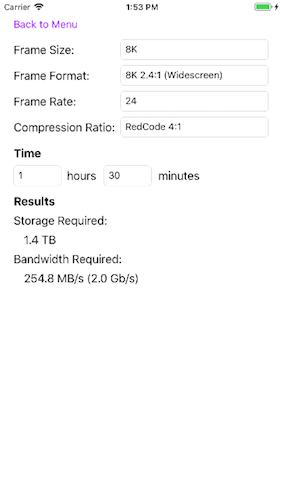 EchoMist :: StorageCalculator